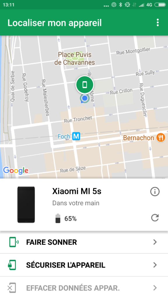 localiser smartphone
